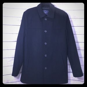 G.H. Bass & Co Black Wool Peacoat Small